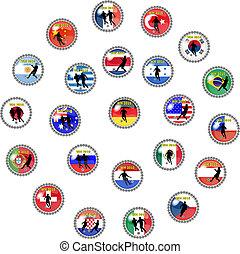 futebol, botões