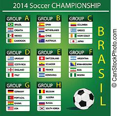 futebol, campeonato, 2014