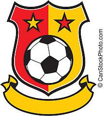 futebol, clube, (soccer), símbolo