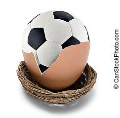 futebol, conceito, bola