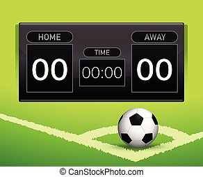 futebol, conceito, contagem, tábua