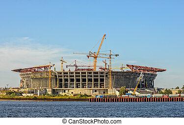 futebol, construção, estádio