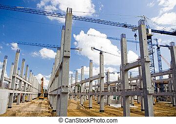 futebol, construção, local, estádio