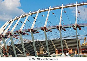 futebol, construção, local,  stadi