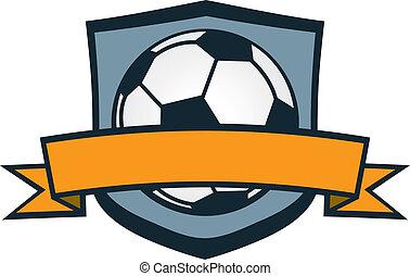 futebol, crista, equipe