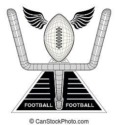 futebol, emblema, isolado