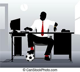 futebol, escrivaninha