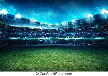 futebol, estádio, fundo