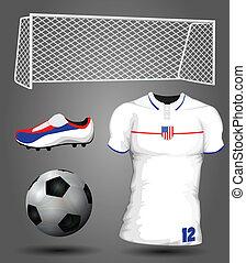 futebol, eua, jersey