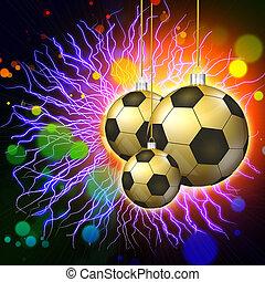 futebol, feriado, abstratos, luzes, fundo