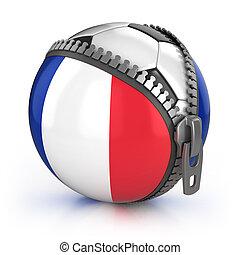 futebol, frança, nação