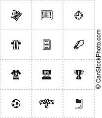 futebol, jogo, ícone