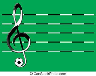 futebol, música
