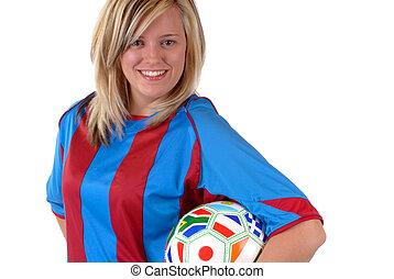 futebol, menina, 3