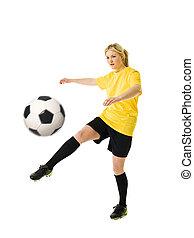 futebol, mulher