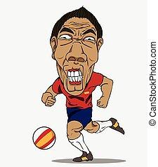 futebol, player., espanha