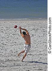 futebol, praia