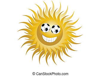 futebol, sol