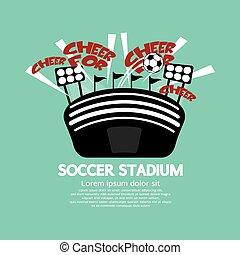 futebol, stadium.