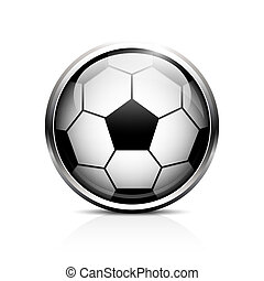 futebol, vetorial, bola, ícone