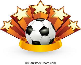 futebol, vetorial, emblema