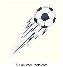 futebol, vetorial, illustration., bola