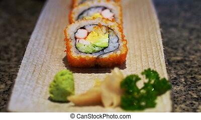 Futomaki, Japanese cuisine roll - Futomaki, famous Japanese...