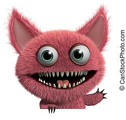 futrzany, potwór