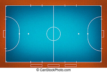 Futsal field - Illustration of Futsal ( Indoor football )...