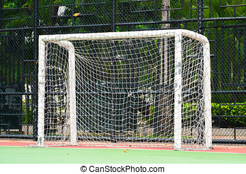 futsal goal on futsal field