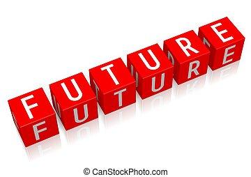 Future - 3D cube word