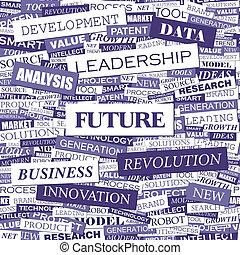 FUTURE. Background concept wordcloud illustration. Print...