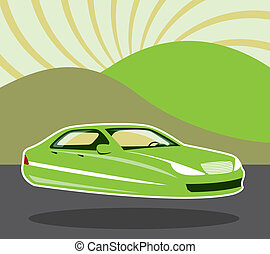 Future Car - future flying car vector illustration clip-art ...