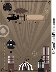 Future circus - A design circus background for a poster.