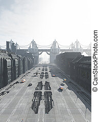 Future City Street and Bridge