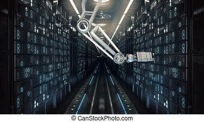 future computer server farm - computer server farm abstract...