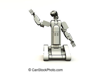 Future Droid - An image of a futrestric android with a white...