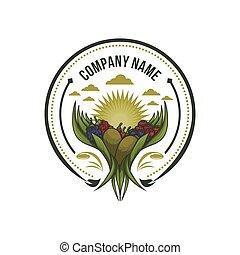 future fruits, goji, berry, raspberry and kiwi badge vector illustration
