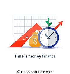 Future investment, time is money, pension fund,...