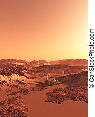 Future Mars Colony