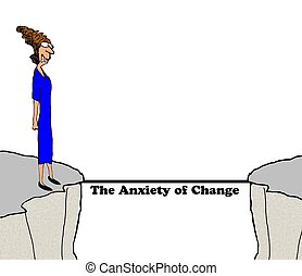 Future misstep - Business cartoon about change in the...