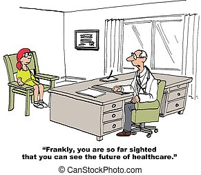 Future of Healthcare - Medical cartoon about the future of...