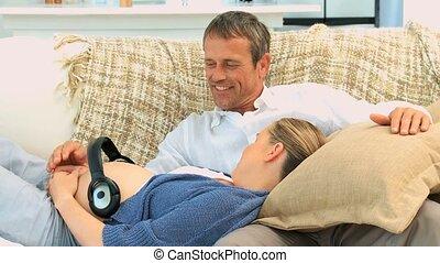 Future parents having a rest