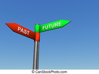 Future Past Direction Sign