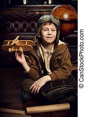 future pilot of airplane