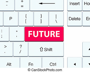 Future pink keyboard button