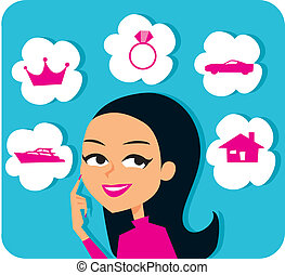 Future Planning Graphic - Women planning future, mortgage,...