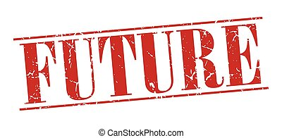 future red grunge vintage stamp isolated on white background