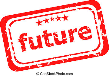 future red rubber stamp over a white background