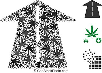 Future Road Collage of Marijuana
